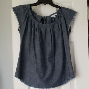 Lauren Conrad chambray blouse Sz XS